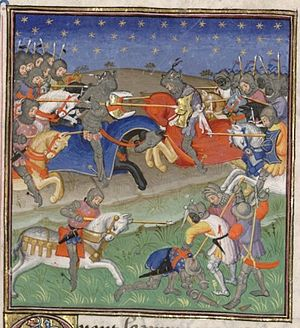 Alfonso XI of Castile - Alfonso XI of Castile attacks the Muslim Moors led by Muhammed IV, Sultan of the emirate of Granada
