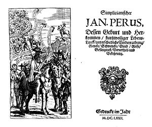 Richard Head - Published in 1672: the German translation of Head's English Rogue (1665) – title page and frontispiece