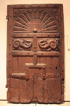 William Mure (writer) - 16th-century oak door from Rowallan Castle, National Museum of Scotland.