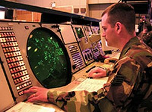 176th Air Defense Squadron - Alaska Air National Guard Staff. Sgt. Mike Reyor keeps a close eye on aircraft flying in southwestern Alaska from his console in the underground Regional Air Operations Center (RAOC) at Elmendorf AFB on 9 May 2005