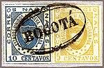 1861 10&5c EU de Nueva Granada Bogota Sc16&14 Mi11&10b.jpg