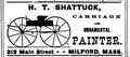 1878 Shattuck Milford Massachusetts ad WorcesterCountyDirectory.png