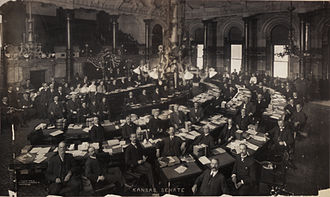 Kansas Senate - The Kansas Senate chamber in 1905
