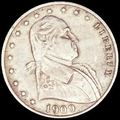 "1909 obverse, with Washington facing right and ""Liberty"" following 13 stars"