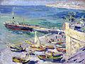 1913 Korovin Anlegestelle auf der Krim anagoria.JPG