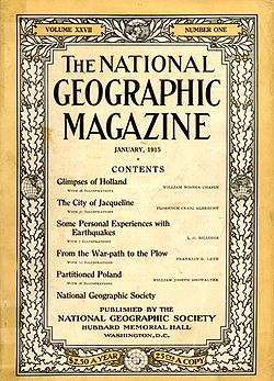 National Geographic Magazine vuodelta 1915.