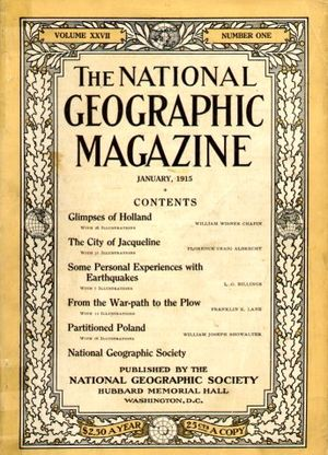 National Geographic Society - Cover of January 1915 National Geographic