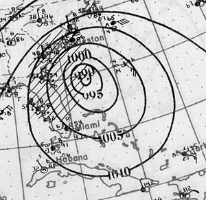 1925 Atlantic hurricane season - Image: 1925 Hurricane 4 Weather Map