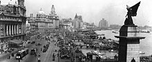 Panorama of Shanghai Bund in 1930