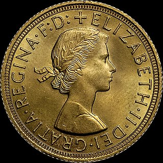 gold coin of the United Kingdom, with a nominal value of one pound sterling