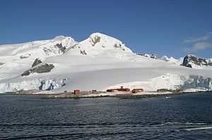 Antarctic Research Station Gonzales Videla located in Paradise Bay