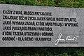 1 Westerplatte. Tablica ze słowami św. Jana Pawła II Każdy z Was młodzi przyjaciele.jpg