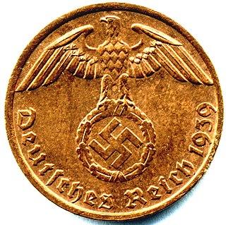 Reichsmark - Prewar bronze Reichspfennig (obverse)