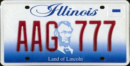2001 Illinois License Plate