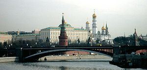 Churches of the Moscow Kremlin, as seen from the Balchug