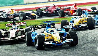 2006 Malaysian Grand Prix - Giancarlo Fisichella led at the start of the race.