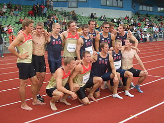 Sports in San Diego - The athletes from both countries following the 2010 Thorpe Cup