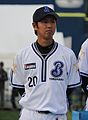 20111123 Kouta Suda, pitcher of the Yokohama BayStars, at Yokohama Stadium.jpg