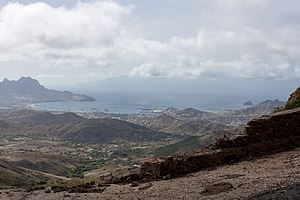 Porto Grande Bay - The city of Mindelo with a view of its bay