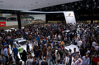 Auto show - Inside the Porsche pavilion at the IAA 2013 in Frankfurt