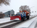 2014-11-13 07 55 15 Elko city snow plow along Lamoille Highway (Nevada State Route 227) in Elko, Nevada.JPG