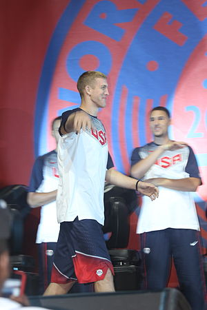 Mason Plumlee - Plumlee with Team USA at the 2014 World Basketball Festival