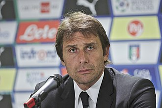 Antonio Conte - Conte in June 2015 during a press conference following the Portugal and Italy match.