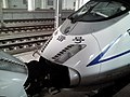 201507 CRH3C-3058 operates as G1305 at Jinhua Station.jpg