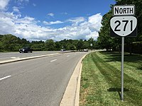 2017-07-07 12 02 31 View north along Virginia State Route 271 (Pouncey Tract Road) at Nuckols Road in Wyndham, Henrico County, Virginia.jpg
