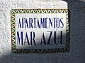 2017-11-06 Name sign, Apartment Hotel Azul Mar, Rua Oliveira Martins, Albufeira.JPG