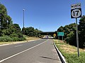 2018-07-19 10 41 08 View north along New Jersey State Route 17 just north of the exit for New Jersey State Route 3 EAST in Rutherford, Bergen County, New Jersey.jpg