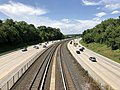 2019-07-17 15 09 37 View north along Interstate 795 (Northwest Expressway) from the overpass for McDonogh Road on the edge of Garrison and Owings Mills in Baltimore County, Maryland.jpg