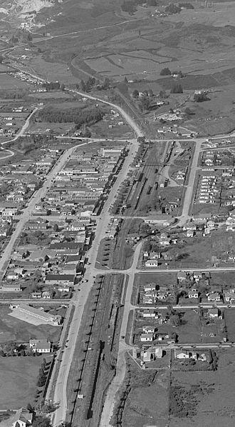 Te Kuiti railway station - Image: 20 May 1947 Te Kuiti