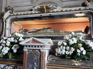 Angela Merici - The incorrupt body of Saint  Angela Merici in Brescia, Italy.