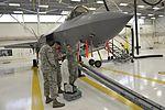33rd FW nondestructive inspection Airmen inspect F-35 160516-F-MT297-001.jpg