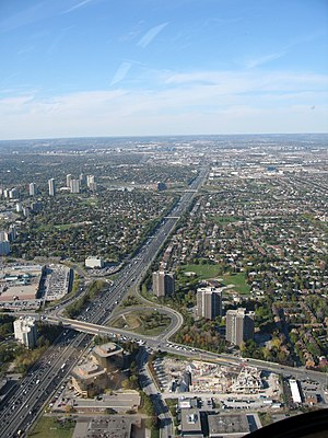 Fairview Mall - Fairview Mall, bounded at the east by Highway 404 and to the south by Sheppard Avenue East.