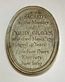 41 Aslackby St James, interior - North Aisle plaque 01.jpg