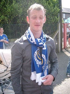John Stewart (footballer, born 1985) - John Stewart outside Palmerston Park, Dumfries