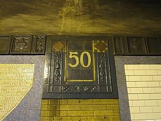 50th Street (IRT Broadway–Seventh Avenue Line) - Image: 50th Street IRT Broadway 7th Avenue Line 0921