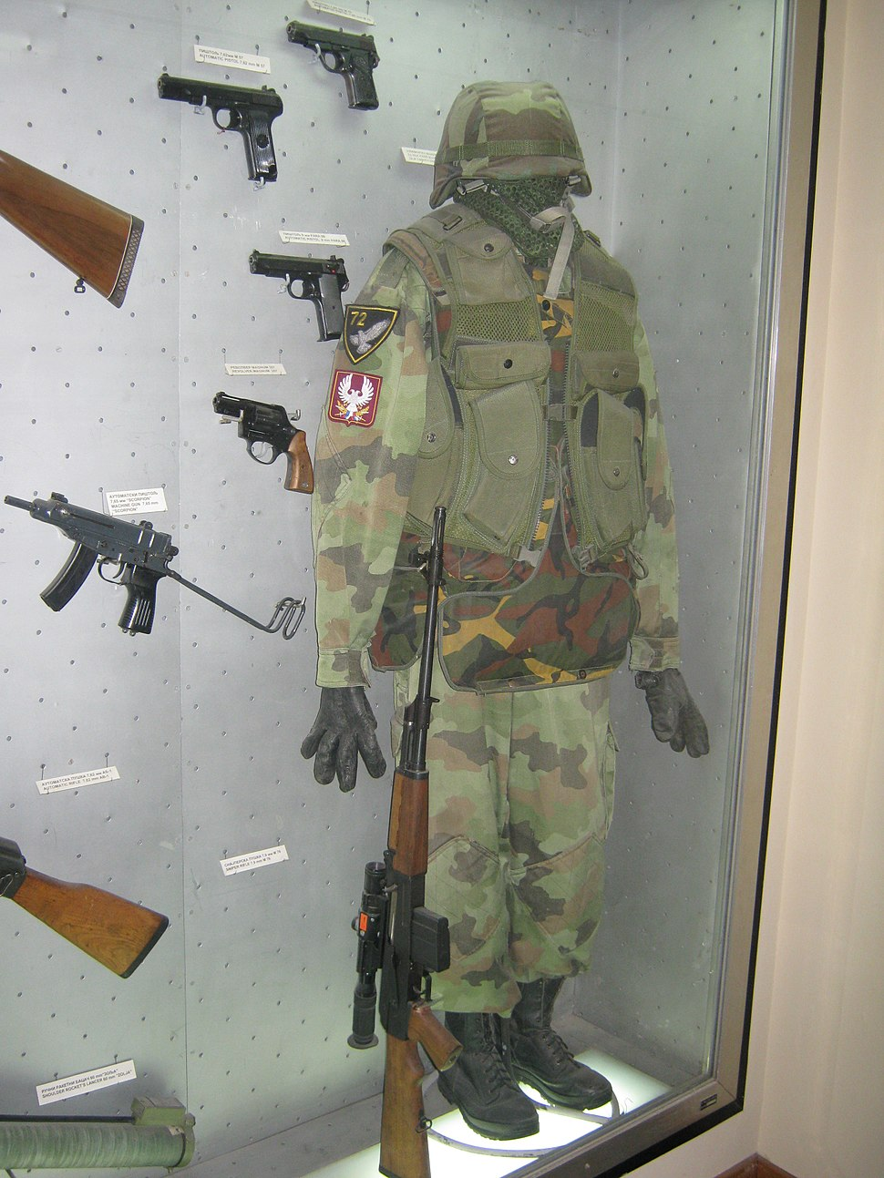 72nd Special Brigade equipment 1999, Belgrade Military Museum