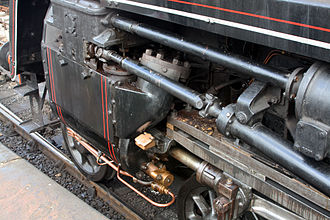 Caprotti valve gear - Caprotti valve gear on BR no. 73129