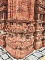 7th century reliefs on brick walls, Lakshmana Hindu temple, Sirpur Chhattisgarh India 2.jpg