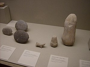7th millennium BC - 7th millennium BC clay and stone artefacts from the Middle East. On display in the Metropolitan Museum of Art, in New York