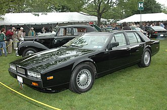 Aston Martin Lagonda - The 1987 Series 4 had more rounded, but also more slab-sided styling.