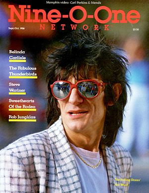 Nine-O-One Network Magazine - Rolling Stone Ron Wood cover story, October 1986 issue