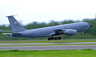 18th Air Refueling Squadron - 931st Air Refueling Group KC-135 Stratotanker takes off from Eielson AFB during Exercise Red Flag Alaska