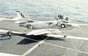 A-4C VA-34 on USS Intrepid (CVS-11) 1967.jpg