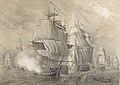A055a161 0950 (cropped) Combatido en Trafalgar por cuatro navíos ingleses, el navío español que montaba el almirante Gravina.jpg