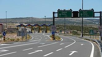 Transport in Croatia - A1 motorway near Maslenica