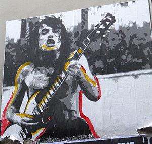 ACDC Lane - Image: ACDC Lane Street art poster